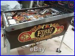 Williams FIRE! Pinball machine fireman theme MINT COND HUO 100% refurbished