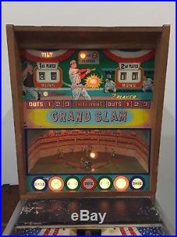 Williams Grand Slam Baseball Pitch and Bat Pinball Arcade Machine Hard to Find