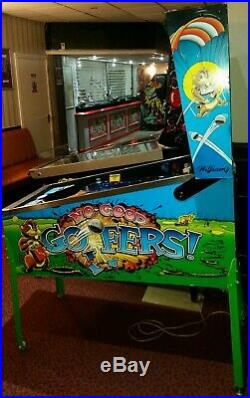 Williams NO GOOD GOFERS arcade pinball good working order LEDs tidy machine