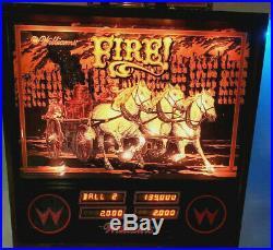 Williams Pinball Machine Fire! Gameroom Arcade Free Shipping