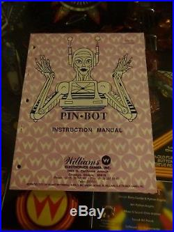 Williams Pinbot Machine with led conversion