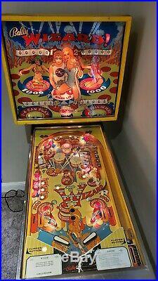 Wizard Pinball Machine Bally Coin Op Arcade 1975