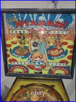 Wizard Tommy Pinball Machine Coin Op Bally 1975 Backglass Looks Great