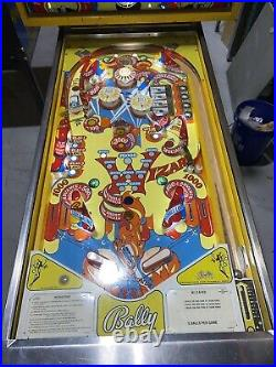 Wizard Tommy Pinball Machine Coin Op Bally 1975 Free Shipping