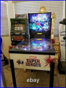 ZIZZLE Marvel Super Heroes Pinball Machine Gameroom Spiderman Rare 2007 3/4 size