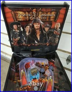 ZIZZLE Pirates of the Caribbean at Worlds End Pinball Machine RARE NEEDS WORK